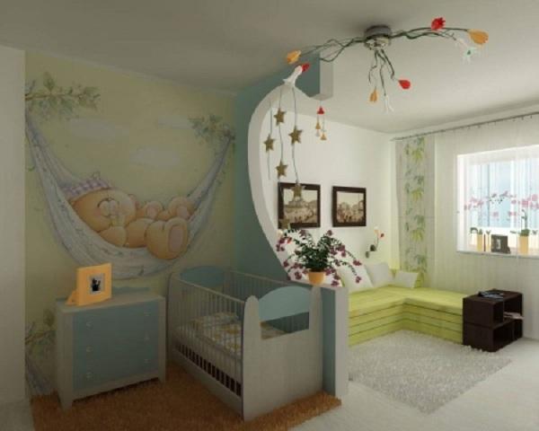 Детская в однокомнатной квартире