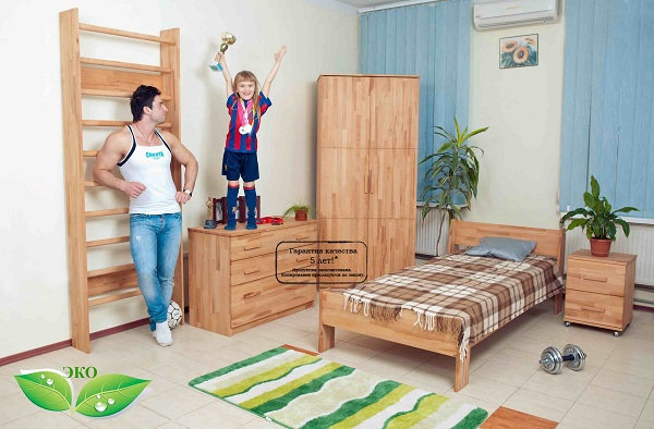 Детская комната эко-стиль